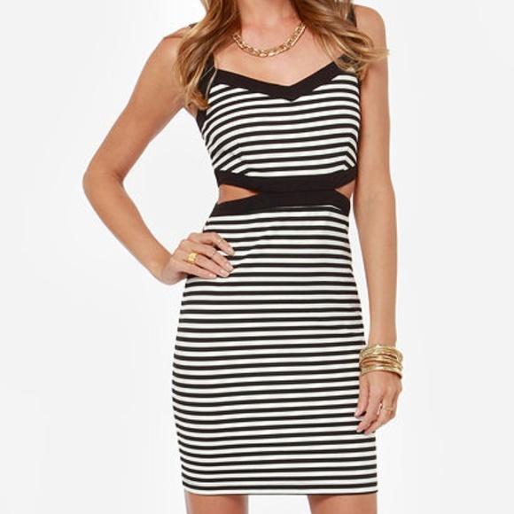 Jack by BB Dakota Dresses & Skirts - Jack by BB Dakota black and white striped dress